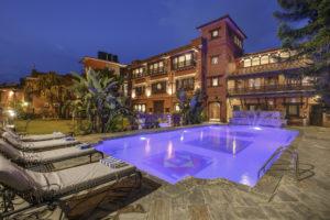 Back Courtyard Garden & Swimming Pool